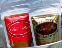 Red Velvet and Velvet Noir Gourmet Spice Rub and Seasoning Pouches