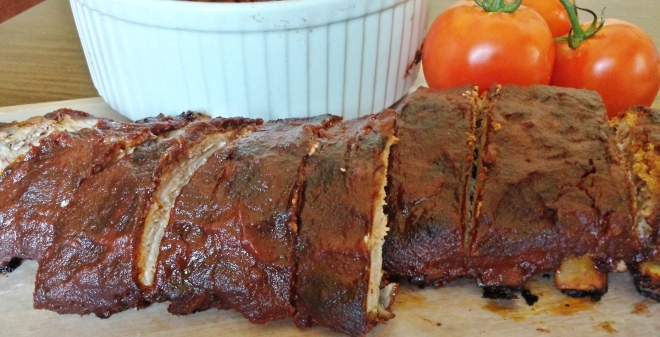 Anytime Ribs basted with Have it your way Barbeque Sauce