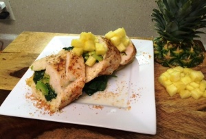 Talley avocado stuffed chicken