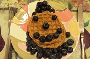 blue berry waffles