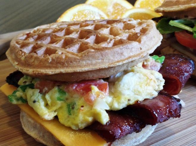 Waffle breakfast