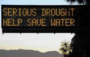 Serious drought save water