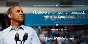 President Obama Women's History