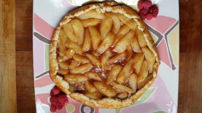 Pear tart on crust done no auto correct 4