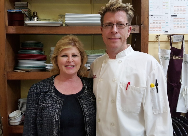 Chef Eric and wife, co-partner Jeannie Crowley